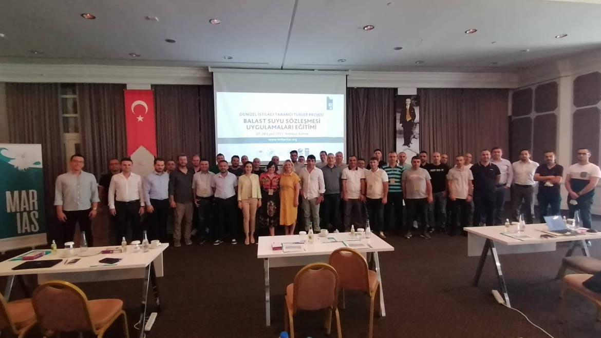 Marine Invasive Alien Species Project Ballast Water Convention Practices and e-DNA Metabarcoding Training was held in Antalya on 27-28 September 2021